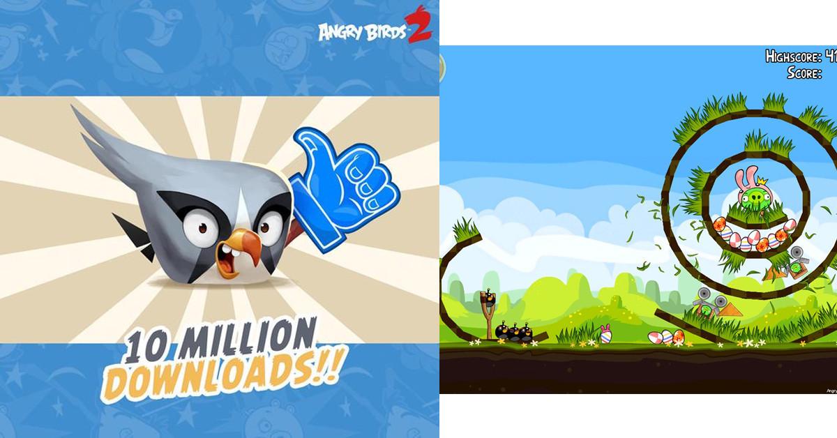 是Angry Birds 2(憤怒鳥2)自7月30日上架至今已達成了一千萬次下載這篇文章的首圖
