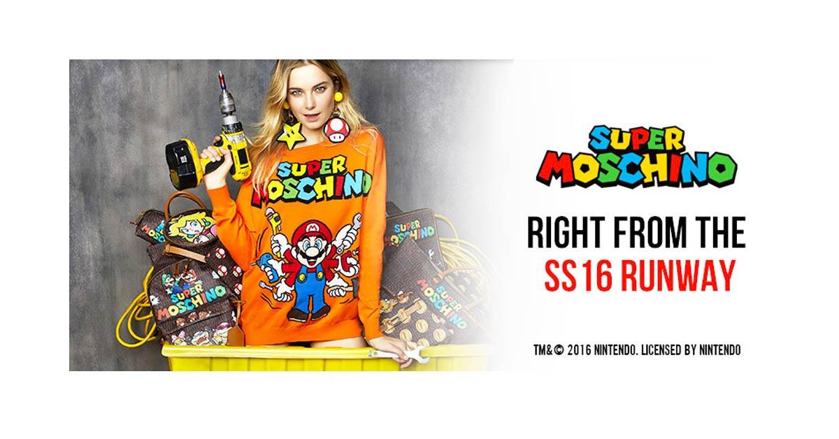 是知名服裝品牌Moschino與超級瑪利歐合作,推出Super Moschino系列服飾這篇文章的首圖