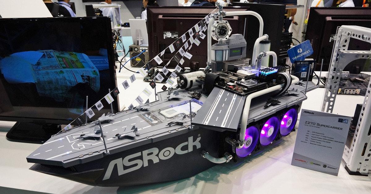 是Computex 2017:搭配ASRock的Z270 Carrier主機板的超帥戰艦電腦這篇文章的首圖