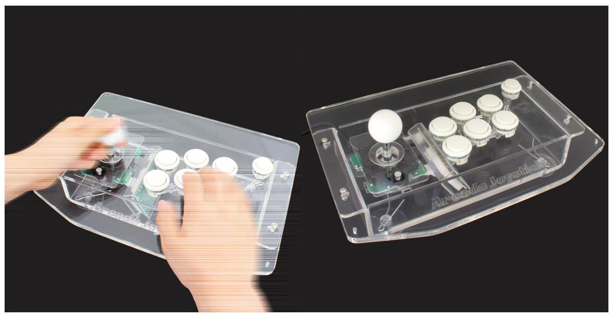 是客倌想練快打旋風嗎?來一支USB Acrylic Arcade Joystick大型電玩搖桿吧!這篇文章的首圖