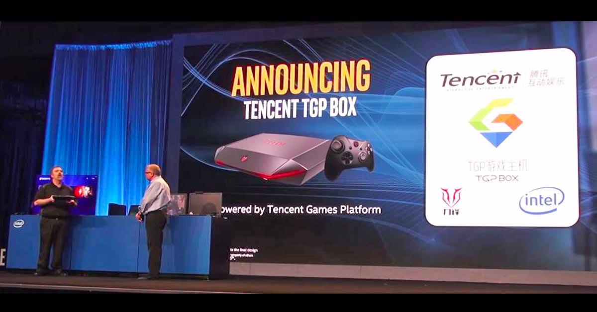 是騰訊與Intel攜手合作在CES ASIA 2016上宣佈推出TGP BOX遊戲主機這篇文章的首圖