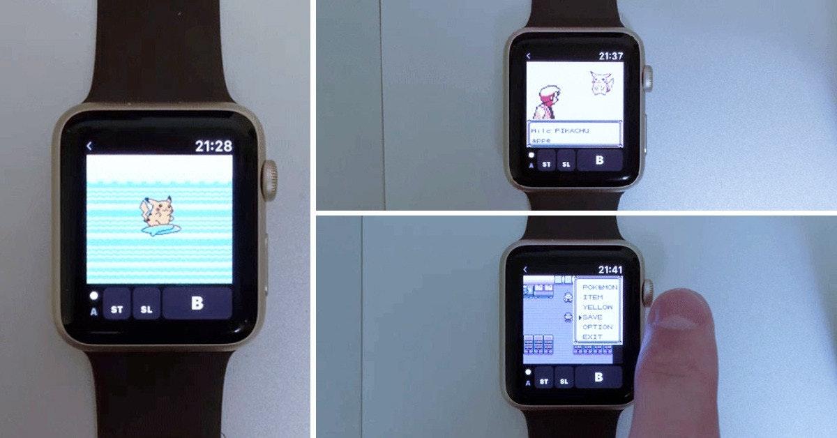 是神人開發超強模擬器 讓你的Apple Watch也能玩GB版Pokemon這篇文章的首圖
