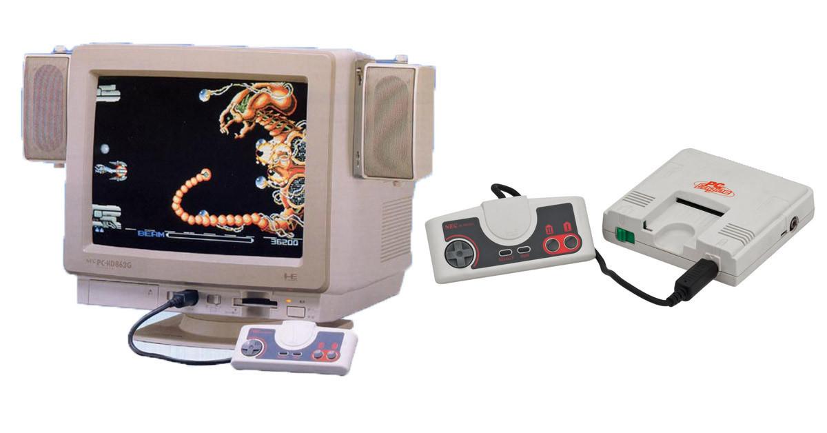是NEC也曾推出過內建PC-Engine主機的CRT螢幕:PC-KD863G這篇文章的首圖