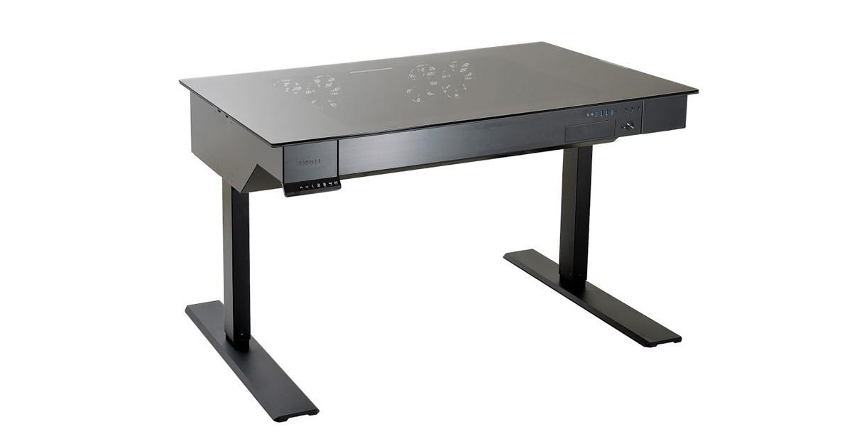 是它是電動升降桌嗎?不~它是個機殼~聯力「DK-04X」機殼正式登場這篇文章的首圖