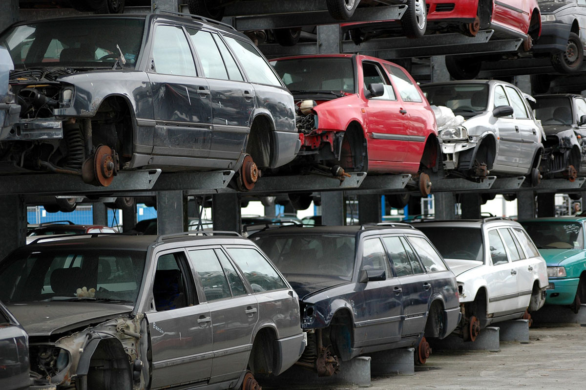 Car, Waste, Vehicle, Vehicle recycling, Recycling, Driving, Natural environment, Scrap, Cash for cars, Waste management, disposed car, motor vehicle, car, vehicle, mode of transport, personal luxury car, full size car, automotive exterior, parking, automotive tire, automotive wheel system