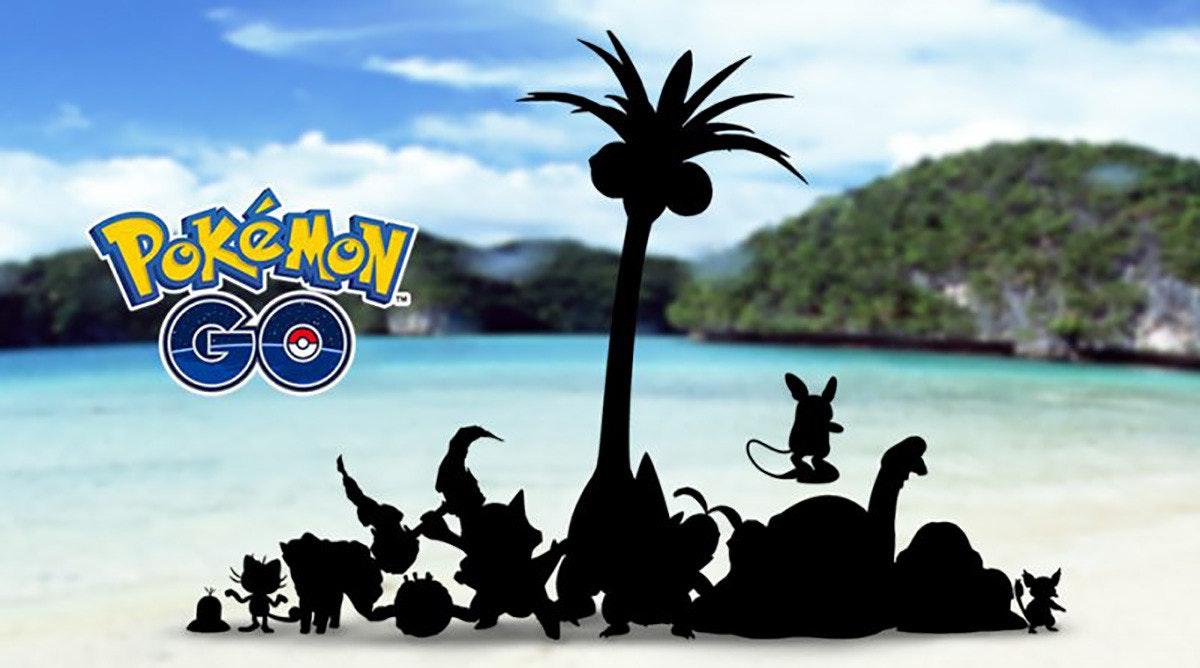 Pokémon GO, Pokémon Sun and Moon, Kanto, Ash Ketchum, Pokémon, Niantic, Alola, Rayquaza, Video game, The Pokémon Company, Pokémon GO, sky, tree, vacation, palm tree, arecales, water, tourism, computer wallpaper, Pokemon Go