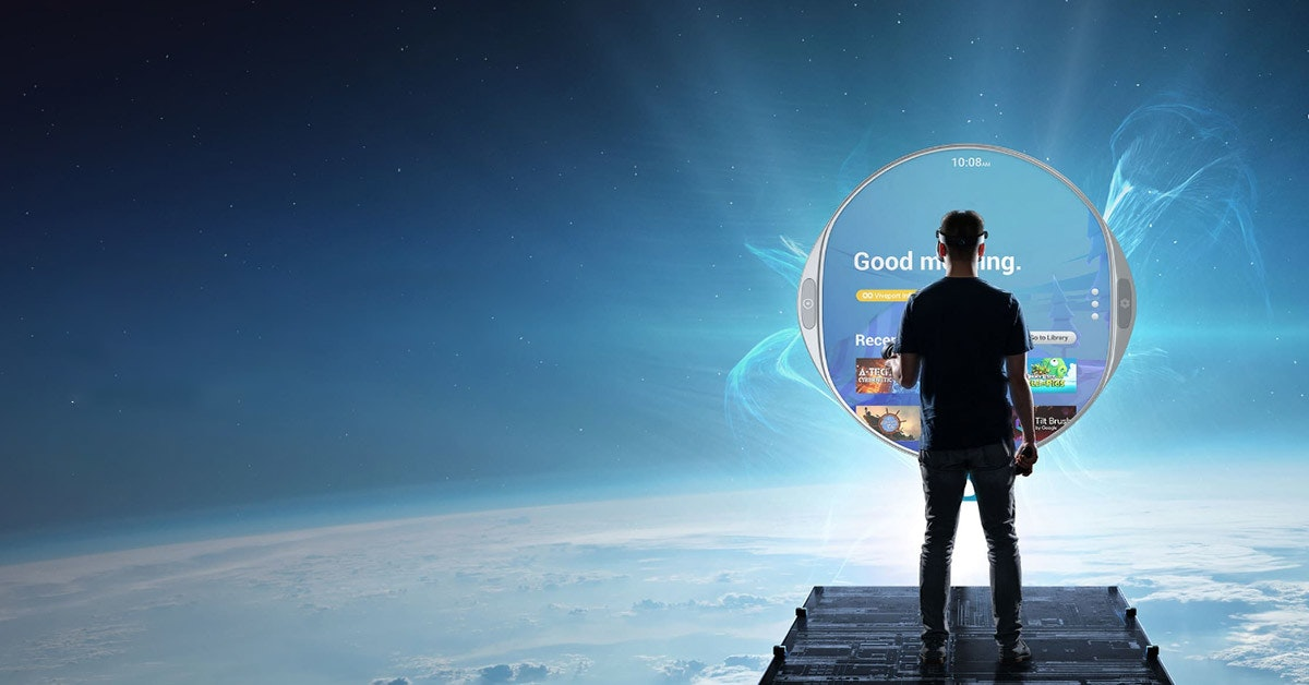 照片中提到了10:08.、Good m ing.、00 Vwepet,包含了天空、虛擬現實、HTC Vive、宏達電、移動電話