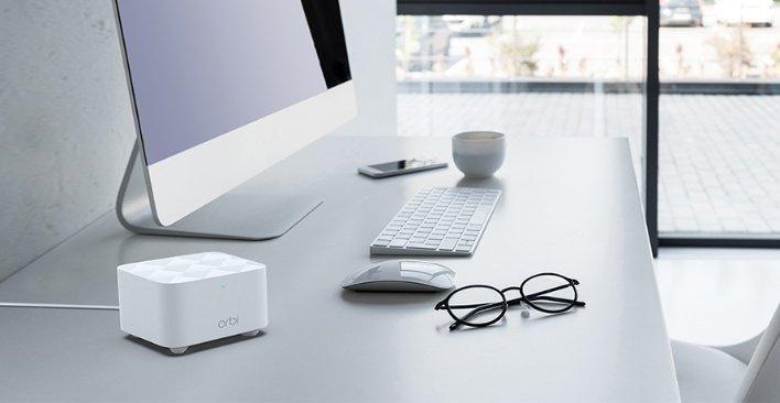 照片中提到了orbi,包含了奧比rbk12、網件Orbi RBK50、eero家庭WiFi系統、網件、網狀網絡