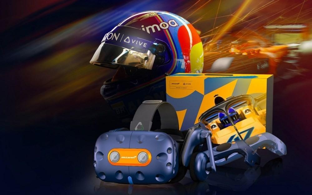 麥拉倫限定款HTC VIVE Pro發表 額外搭配賽車模擬遊戲 售價51900元