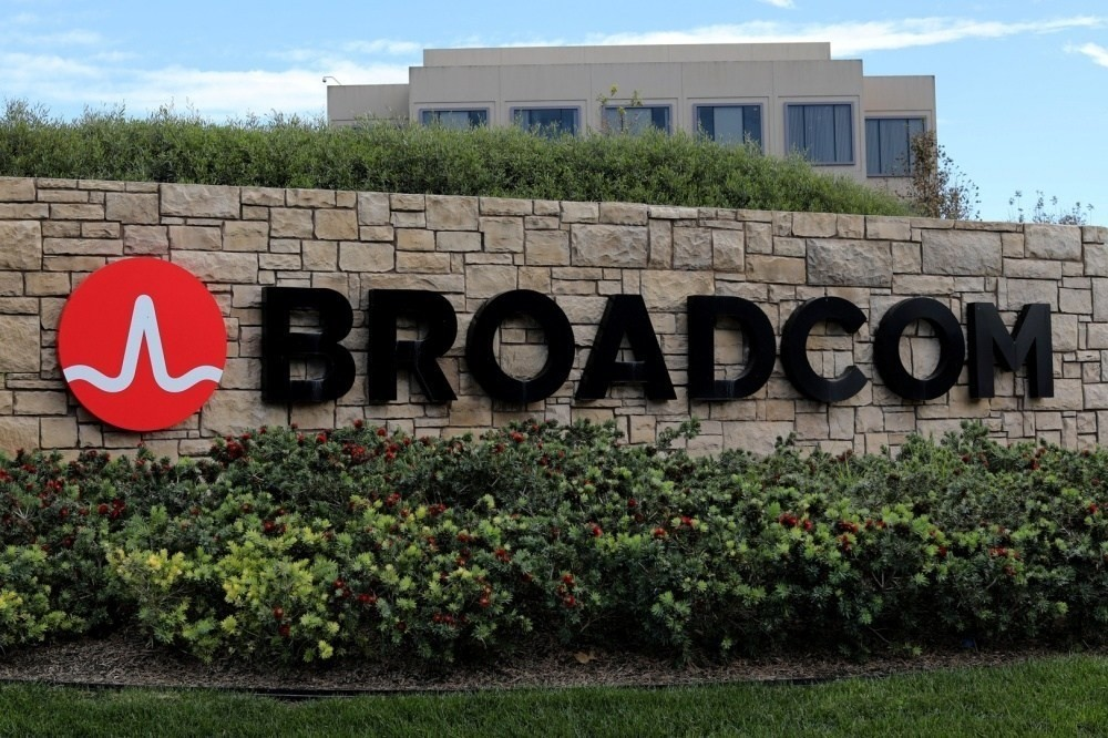 Broadcom Inc, Semiconductor industry, , Symantec, Semiconductor, Integrated Circuits & Chips, Qualcomm, , , Broadcom Corporation, Broadcom Corporation, Property, Wall, Font, Real estate, Advertising, Land lot, Banner, Signage, Grass, Sign