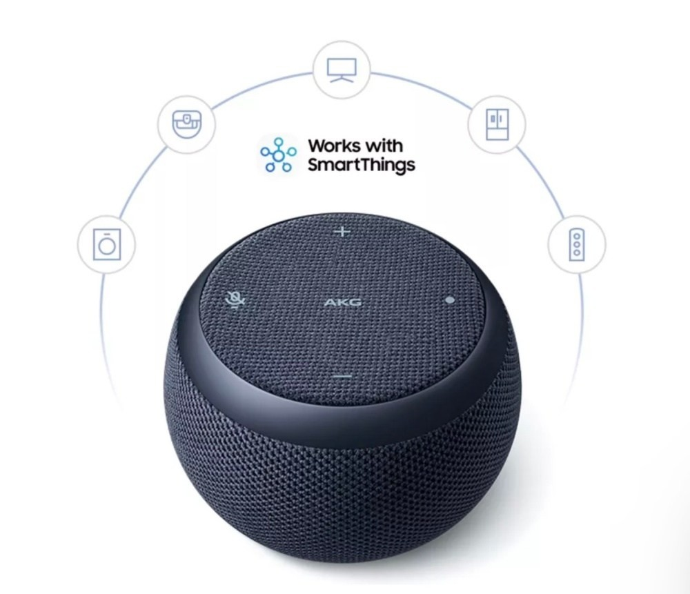 Samsung Galaxy Home, Audio, Smart speaker, Bixby, , Samsung, Loudspeaker, Samsung Galaxy, Samsung Group, Virtual assistant, audio equipment, Audio equipment, Product, Electronic instrument, Loudspeaker, Sound box, Computer speaker, Technology, Electronics, Electronic device, Font