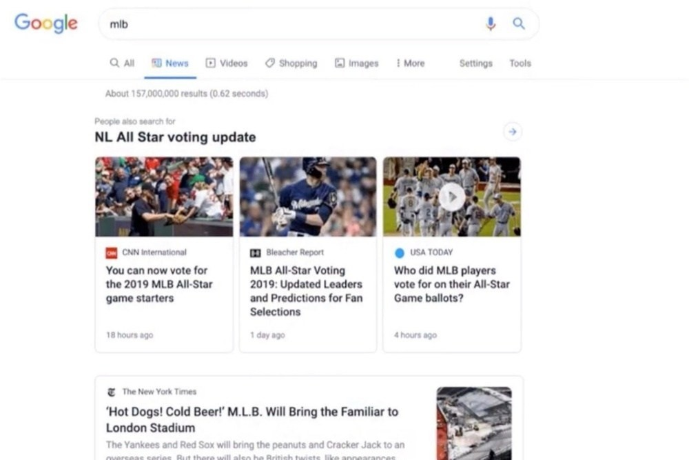 Google News, News, , Google, Google Search, Desktop search, Design, Headline, Material Design, Web search engine, google news tab, Web page, Text, Product, Font, Website, Media, Logo, Screenshot, Technology, Advertising