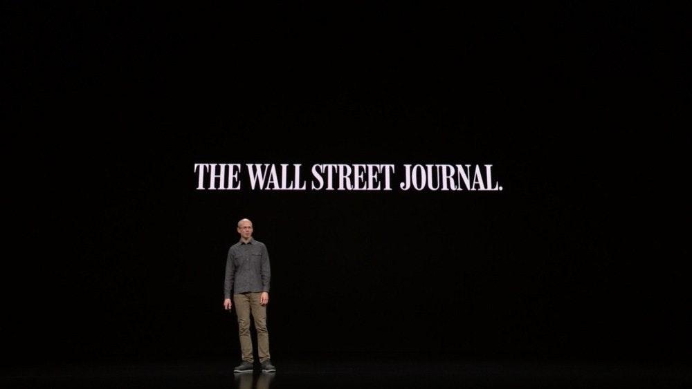 照片中提到了THE WALL STREET JOURNAL.,跟約翰斯頓和墨菲有關,包含了華爾街日報、iPhone 11專業版、蘋果新聞、蘋果、蘋果