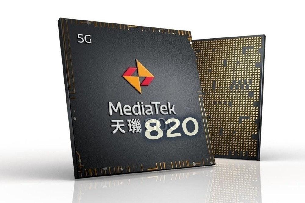 照片中提到了5G、MediaTek、天瑞820,跟歐洲化學有關,包含了聯發科技調暗度800、聯發科、高通金魚草、海思、金魚草865