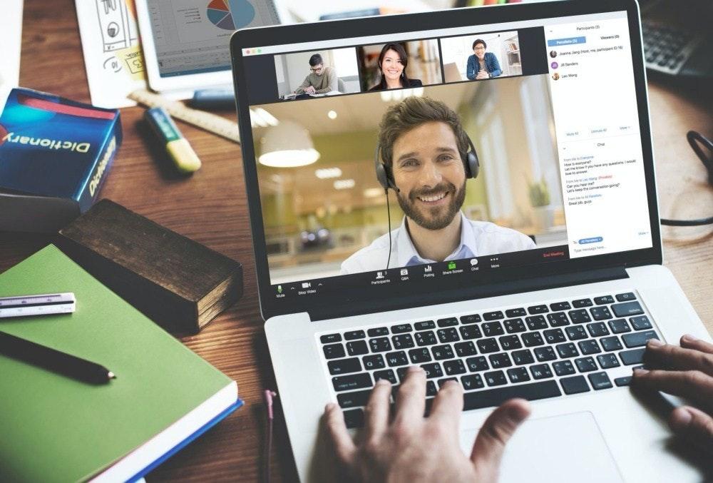 照片中提到了ILLAI、P、ge,包含了視頻會議、電視電話、變焦視頻通訊、網絡會議、電話會議