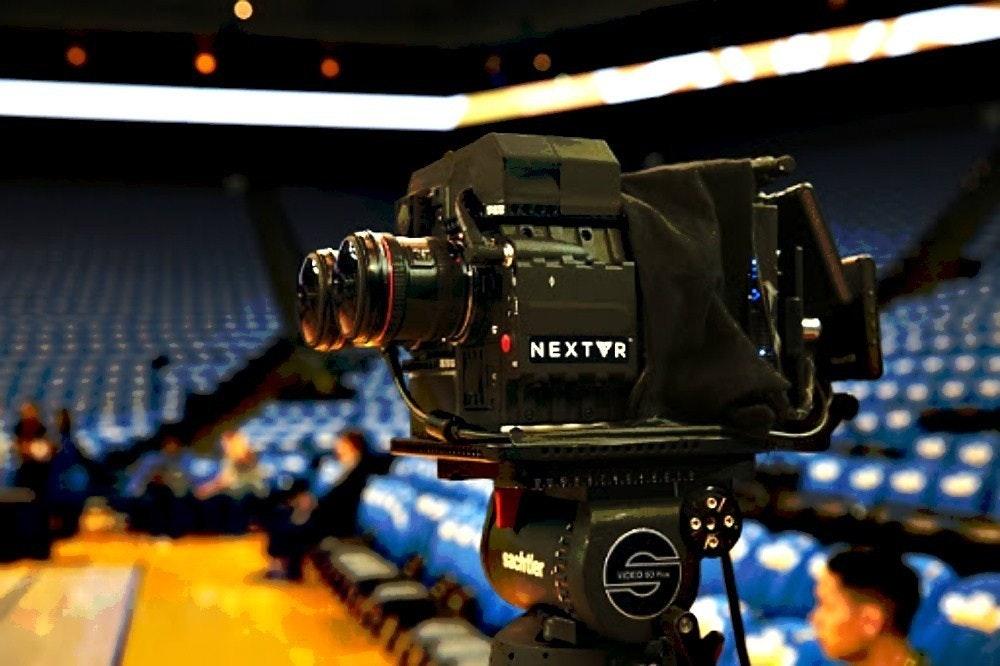 照片中提到了NEXTVR、sachtler、VICEO O,跟薩特勒、XTAR有關,包含了虛擬現實、虛擬現實、現實、增強現實、混合現實