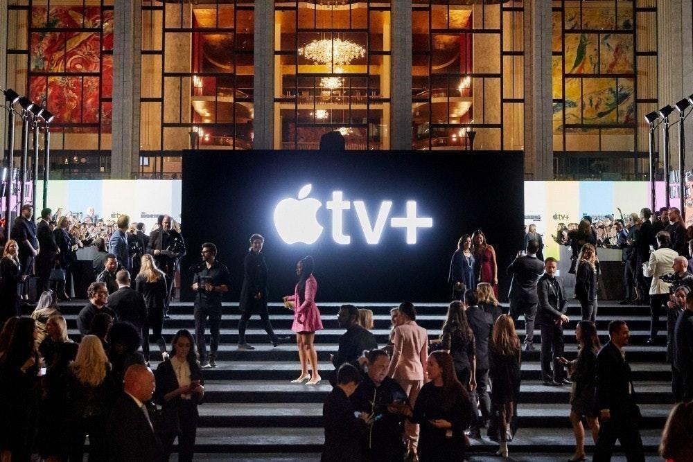 照片中提到了tv+、étv+,跟蘋果電視有關,包含了蘋果電視工作室、蘋果電視+、蘋果、串流電視
