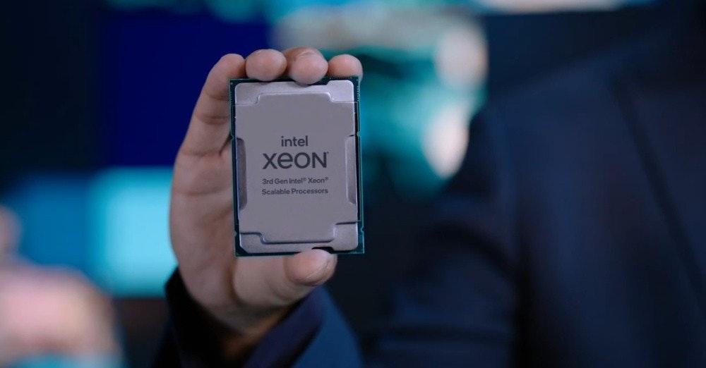 照片中提到了intel、xeON、3rd Gen Intel Xeon,包含了蜂窩網絡、戴爾電腦、英特爾、中央處理器、至強