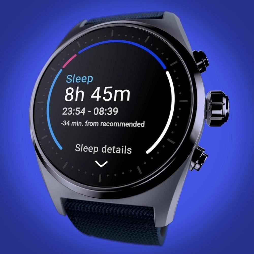 照片中提到了Sleep、8h 45m、23:54 - 08:39,包含了看、智能手錶、看、勃朗峰、產品設計