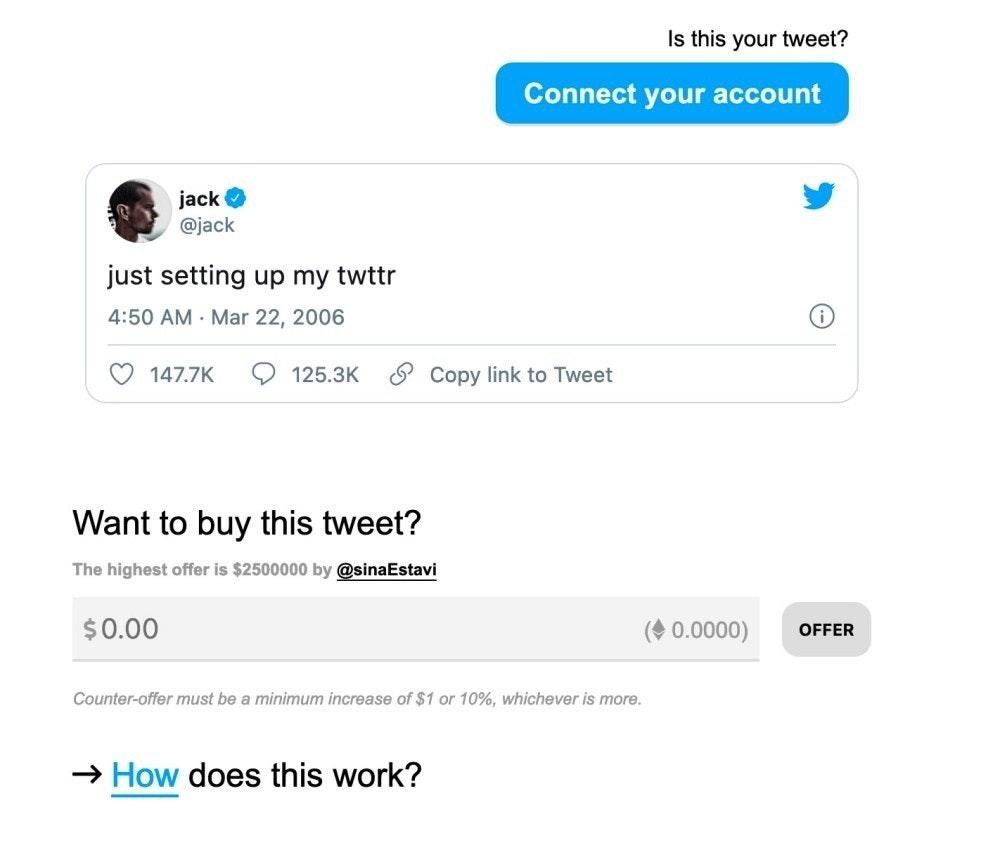 照片中提到了Is this your tweet?、Connect your account、jack O,跟點擊能量有關,包含了多媒體、推特、推特、屏幕截圖、多媒體