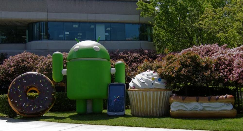 照片中包含了谷歌安卓山景、Google Pixel、安卓系統、山頂風光、谷歌
