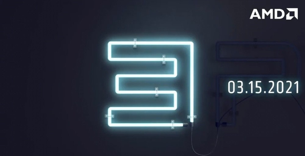 照片中提到了AMDA、03.15.2021,跟Advanced Micro Devices公司有關,包含了光、牌、霓虹燈、霓虹燈/ M、霓虹燈/ M