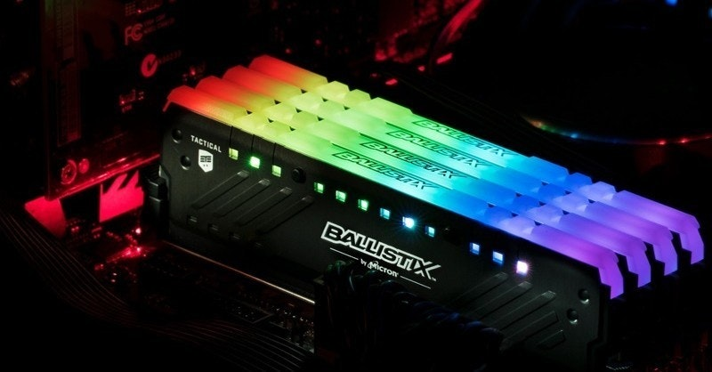 DDR4 SDRAM, , RAM, Computer data storage, , Micron Technology, , DIMM, , Solid-state drive, ballistix tactical tracer ddr4 rgb, technology, light, sound, electronic instrument, display device, lighting, deejay, electronics, gadget, darkness