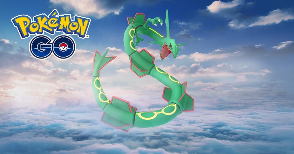 Pokémon GO, Pokémon Emerald, Rayquaza, Raid, Monday March 18, Pokémon, Legendarni Pokémoni, Video Games, Niantic, Flying, rayquaza pokemon go, Sky, Graphic design, Font, Fictional character, Illustration, Graphics