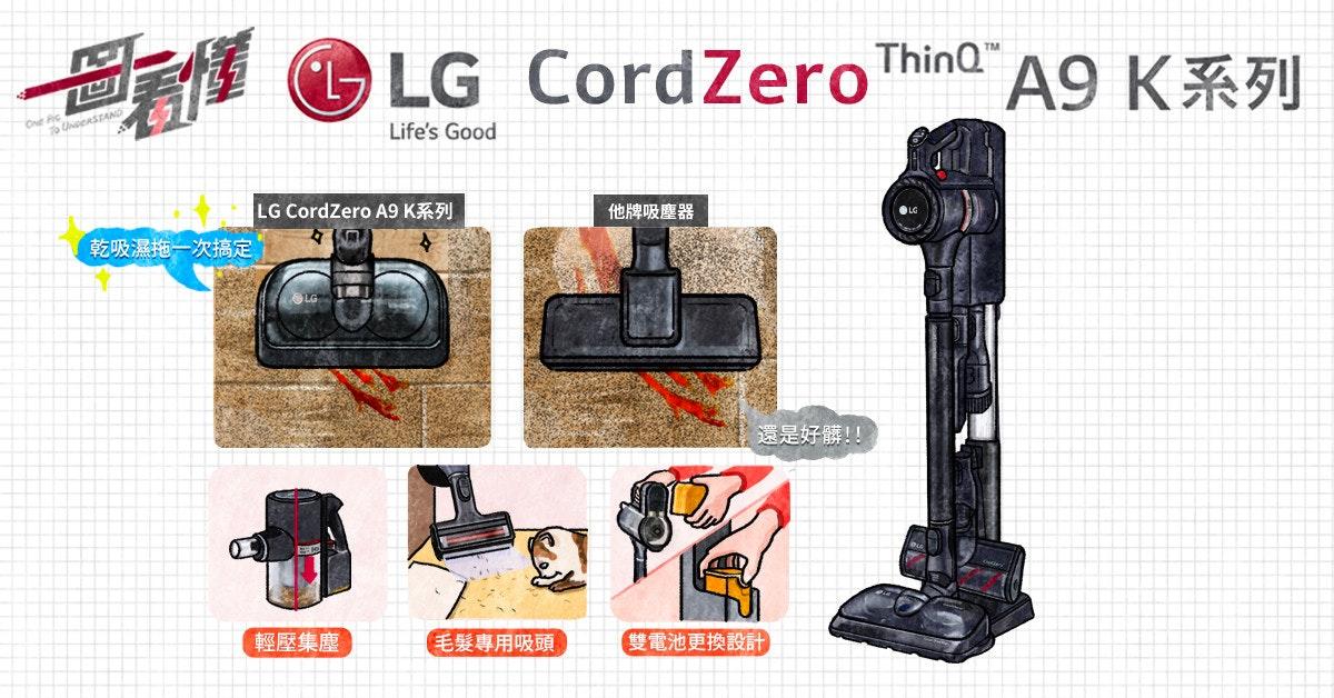 """照片中提到了LG CordZeroThinQ""""、A9 K系列、1回,跟LG G5有關,包含了相機配件、相機配件、產品設計、產品、牌"""