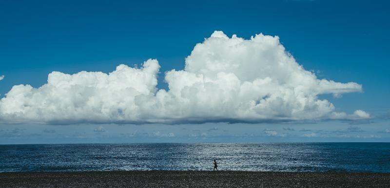 , Shore, Wind wave, Cumulus, Ocean, Nikon, Nikon AF-S DX Nikkor 35mm f/1.8G, Wind, Sea, Cloud, Sea, sky, sea, cloud, horizon, ocean, daytime, cumulus, calm, shore, wind wave