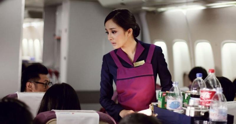 Yang Mi, Love in a Puff, Flight attendant, Hong Kong, Film, Aviation, Beidishan, Airplane, Pingnannan Railway Station, Airline, phim về tiếp viên hàng không, Skin, Beauty, Job, Black hair