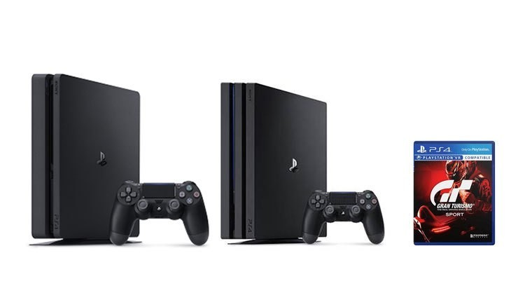 Sony PlayStation 4 Slim, Sony PlayStation 4 Pro, PlayStation VR, Video Game Consoles, Red Dead Redemption 2, Gran Turismo Sport, Video Games, Game Controllers, Sony DualShock 4, PlayStation Move, playstation 4 slim pro, product, technology, electronic device, gadget, output device, video game console, multimedia, electronics, display device, product, Gran Turismo 5