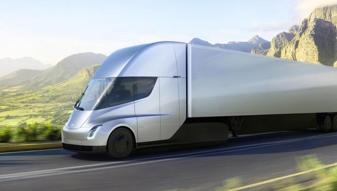 是俥科技:Tesla Semi電動貨車發表 續航力800公里的未來感貨車這篇文章的首圖