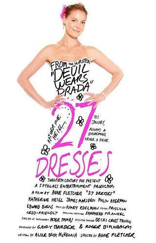 是片名翻譯:27件禮服的秘密 (陸譯:新娘靠邊閃)這篇文章的首圖