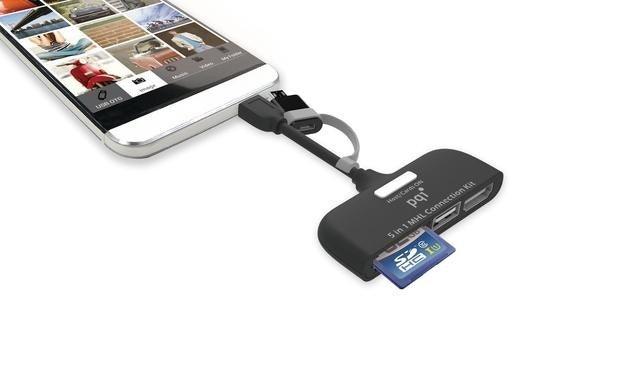 是同時滿足 MHL 、讀卡機、 USB 外接的擴充功能, PQI 推出 Connect 210 多功能連接器這篇文章的首圖