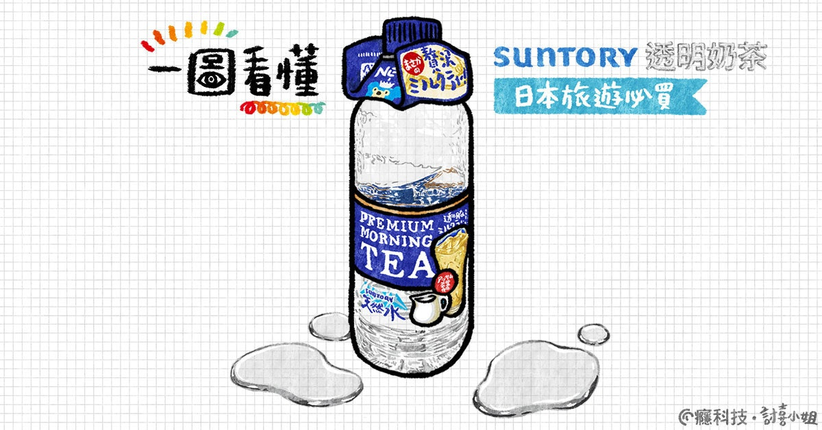 是一圖看懂 Suntory透明奶茶 日本旅遊必買伴手禮這篇文章的首圖