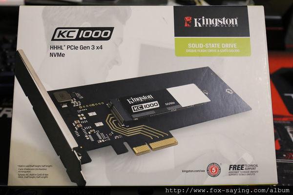 是有夠快 !!! 金士頓 Kingston KC1000 NVMe MLC SSD 讀取最高可達 2800MB/s  這篇文章的首圖