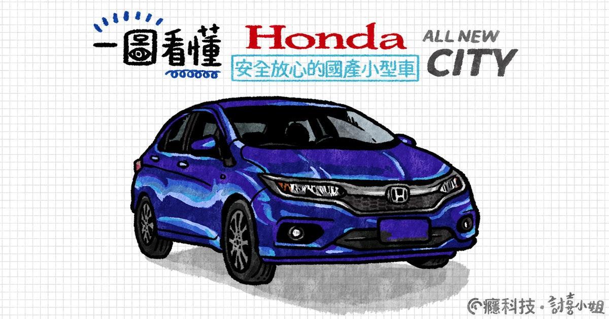 是一圖看懂  最經濟的都市房車 Honda CITY這篇文章的首圖