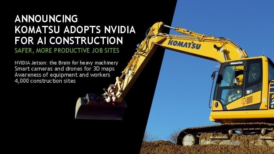 是因應勞動人口短缺與減少工安,日本小松製作所導入 NVIDIA Jetson 人工智慧技術打造智慧營造這篇文章的首圖