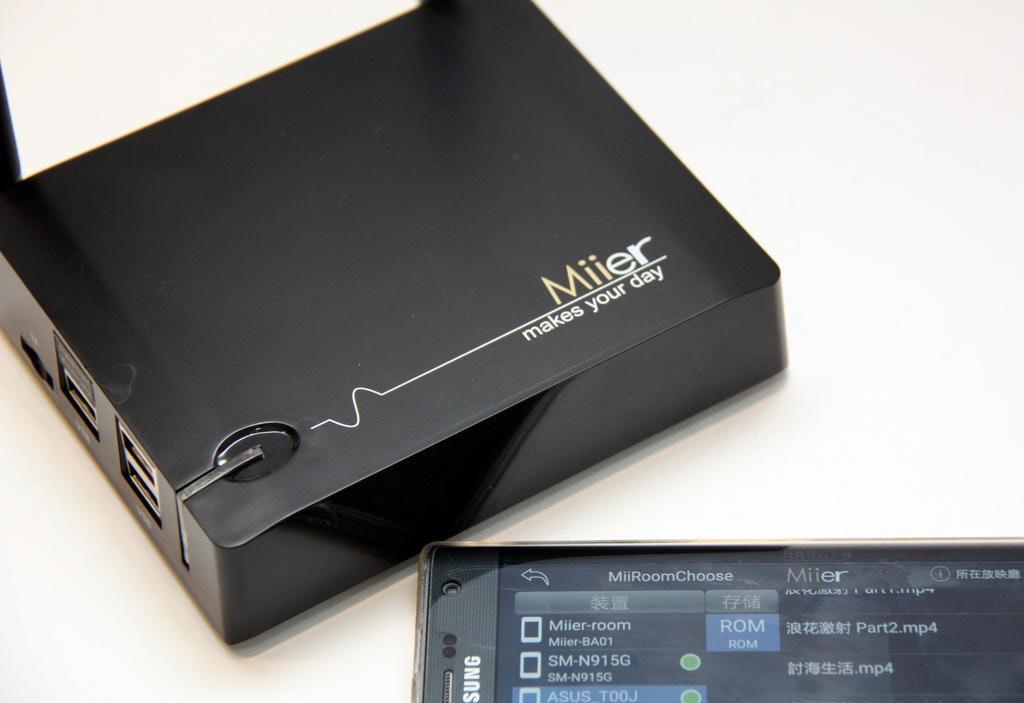 是Miier無所不能智慧電視盒 還能用App播放別人手機裡的謎片~口弗~口弗!這篇文章的首圖