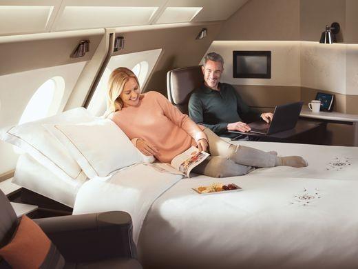 是航空公司推出新的頭等艙套房這篇文章的首圖