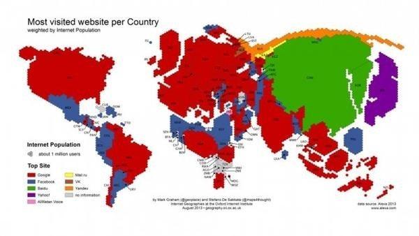 是[科技新報]從全球地圖看世界各國最受歡迎的網站這篇文章的首圖