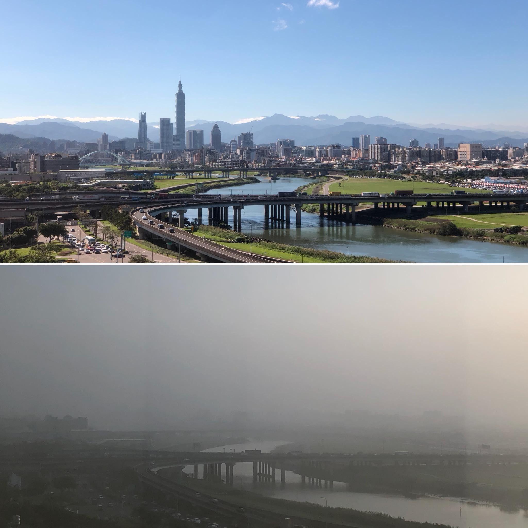 是霧霾影響台灣 從南到北一片霧濛濛 高雄未來3個月搭捷運免費這篇文章的首圖