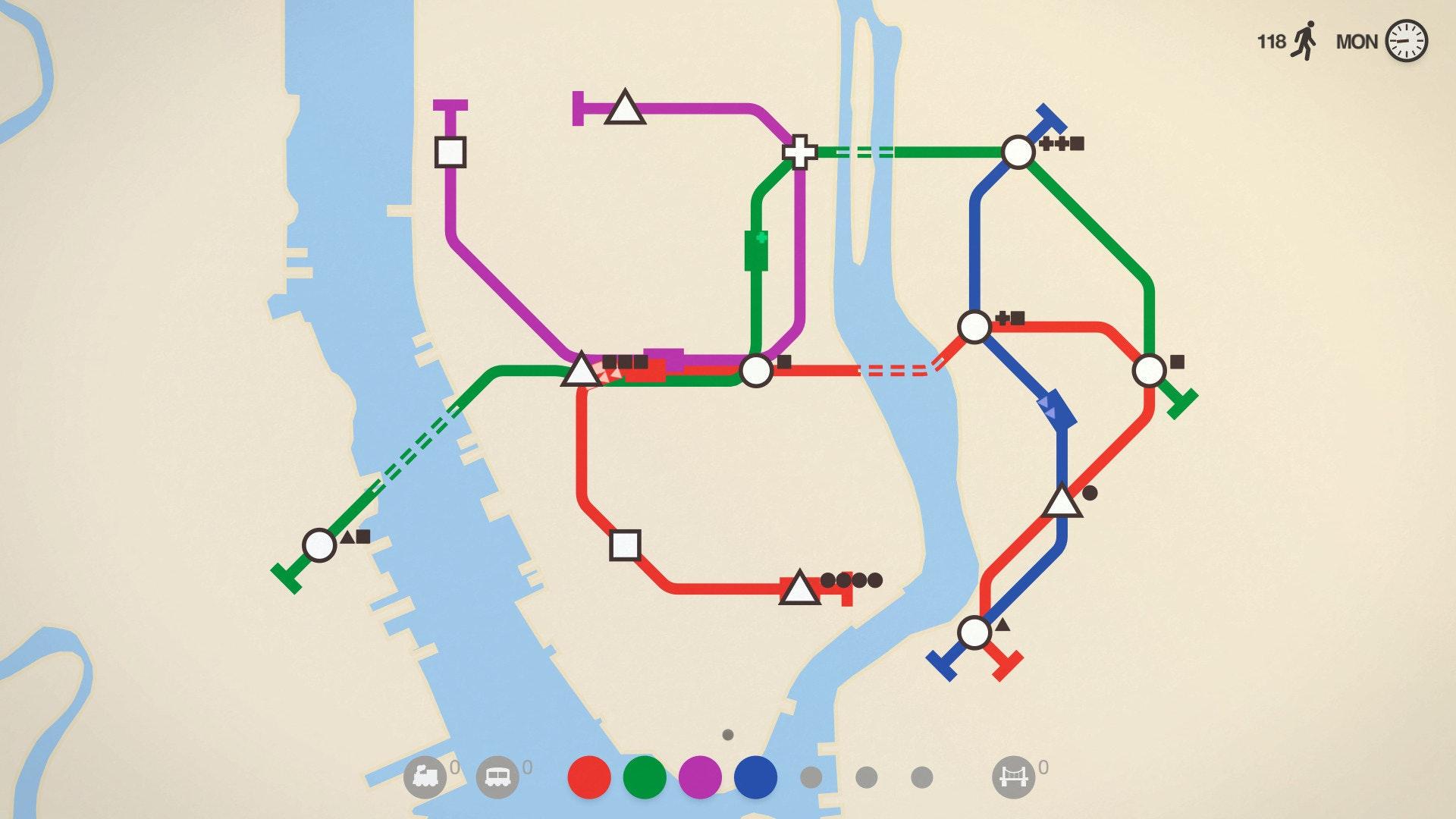 是Steam遊戲特價快訊:迷你地铁《Mini Metro》現在特價93元 便宜93元這篇文章的首圖