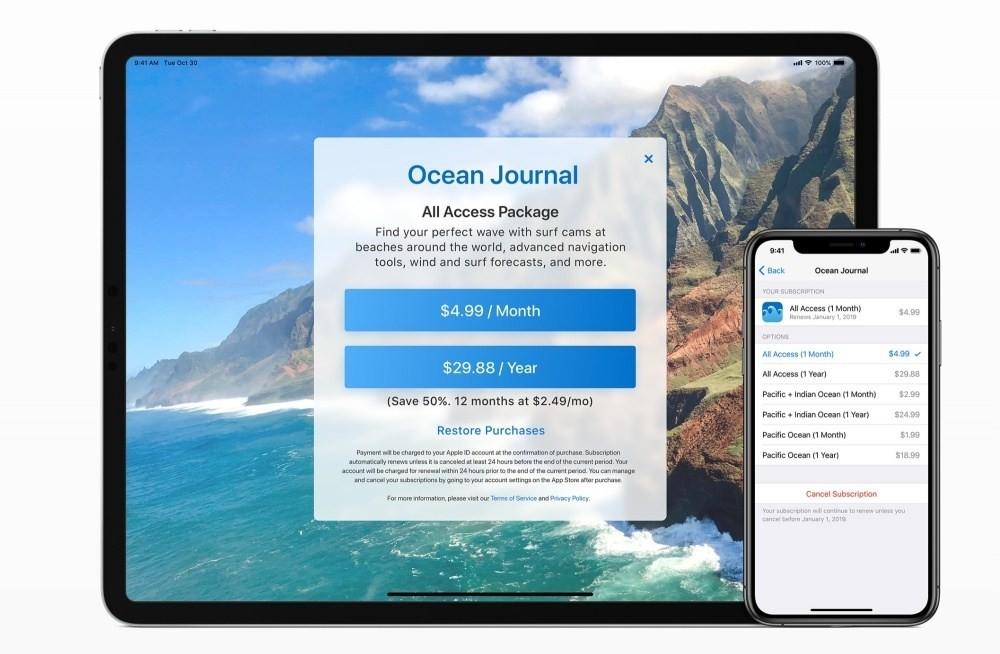 是蘋果要求開發者在app內清楚說明訂閱使用方式,避免誘騙付費行為這篇文章的首圖